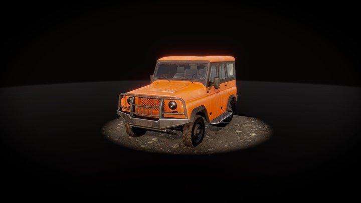 Red Expedition (UAZ Hunter) 3D Model