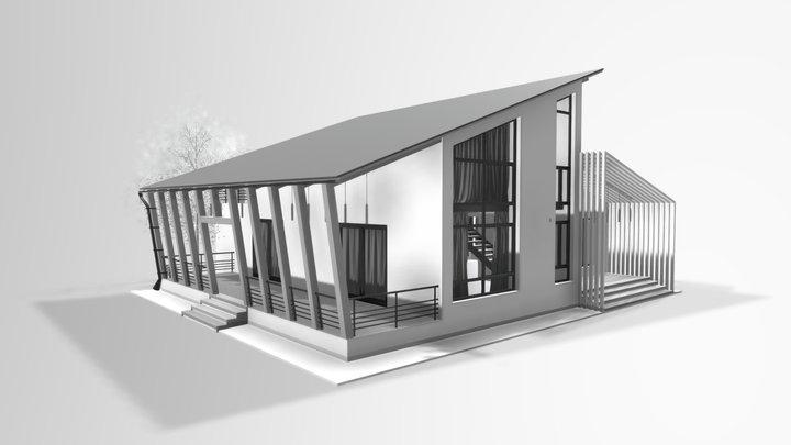 Modern House_Tree V1 3D Model