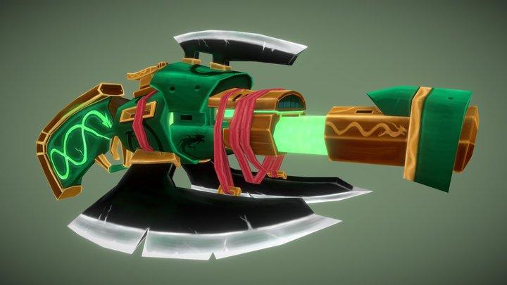 Ouroboros' Double Barreled Rifle 3D Model