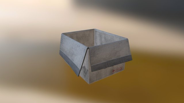 Vault Box Open Example 3D Model