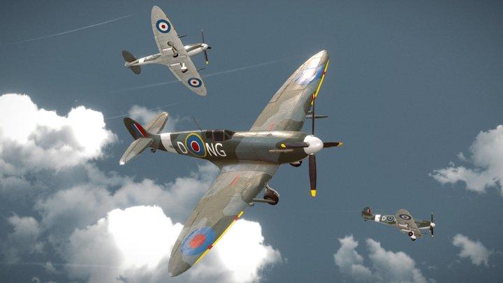 Spitfire Texturing Challenge 3D Model