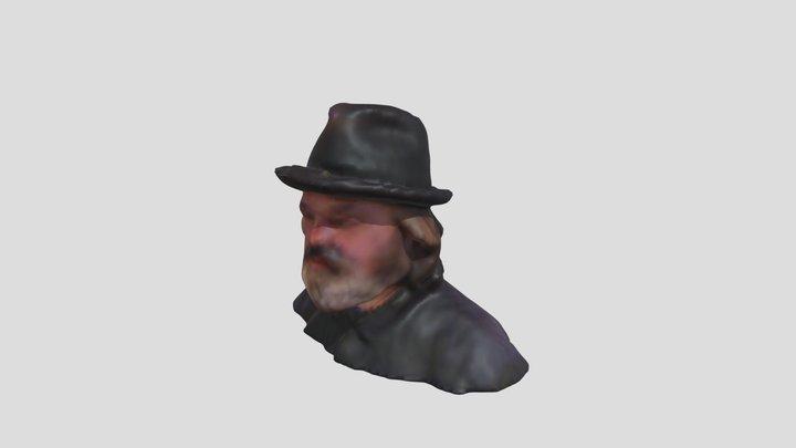 Yo con barba y sombrero. Como el barquero 3D Model