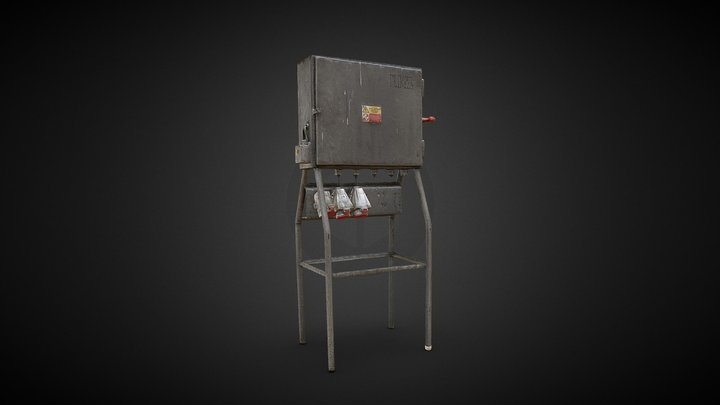 Old Electrical Cabinet Box Switchboard 3D Scan 3D Model
