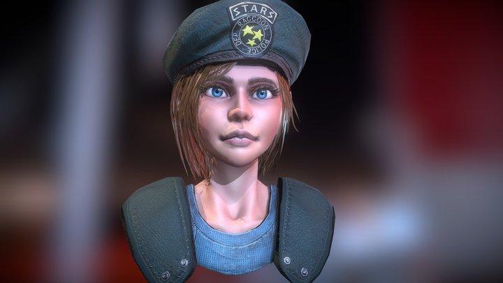 Jill Valentine from Resident Evil Remake FanArt 3D Model