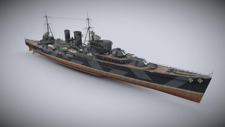 HMS Exeter 3D Model