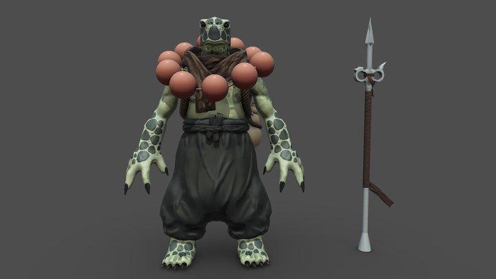 Turtle Monk A Pose 3D Model