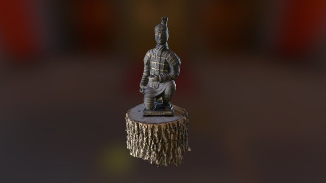 Terracotta warrior from Qin Shi Huang's tomb 3D Model