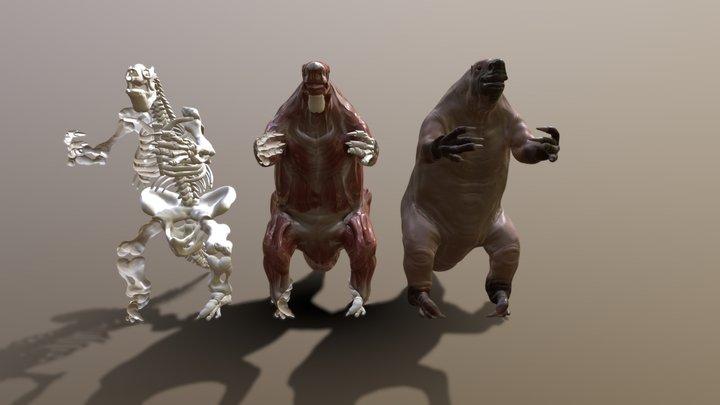 Megatherium Americanum Reconstruction 3D Model