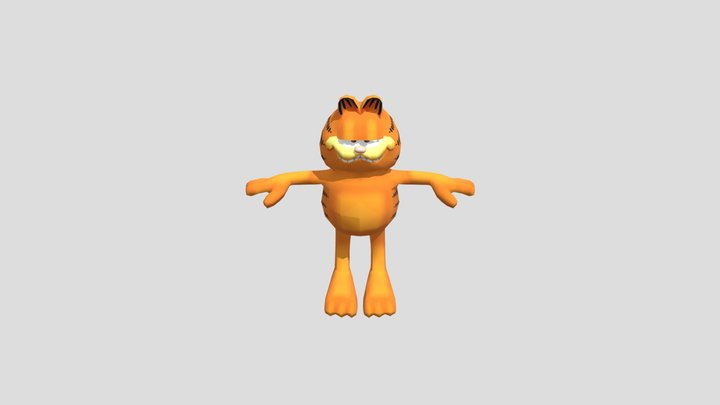 Garfield Dying Animation 3D Model