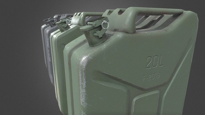 Game Ready Jerry Cans 3D Model