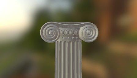 colonna ionica per 3DP 3D Model