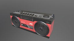 Boombox VR / AR / low-poly 3D model 3D Model