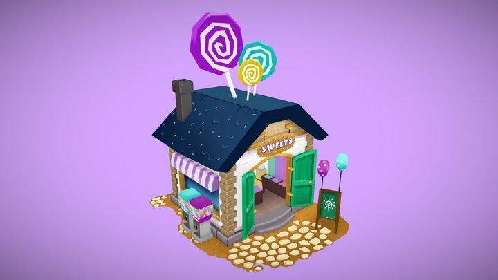 Little Candy Shop 3D Model