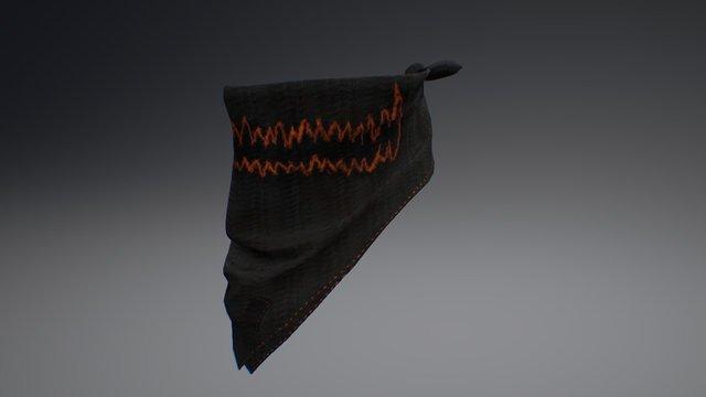 Bandana - Spooky Pumpkin 3D Model