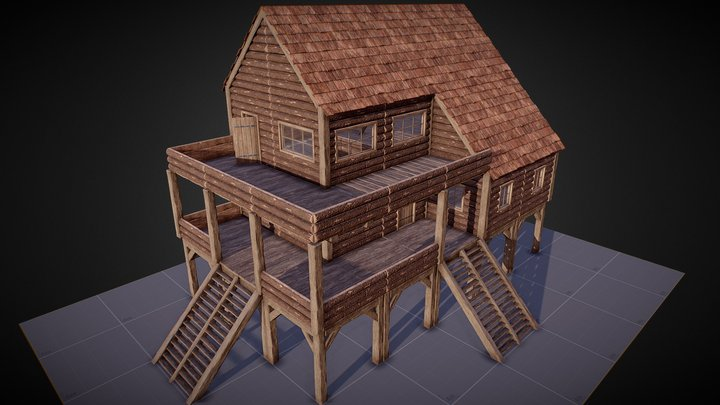 Modular Survival Base 3D Model