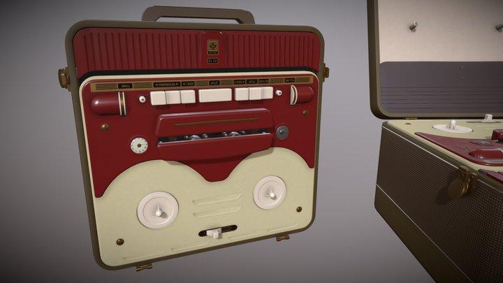 MG56 Retro Bobbin Tape Recorder (Midpoly ver) 3D Model