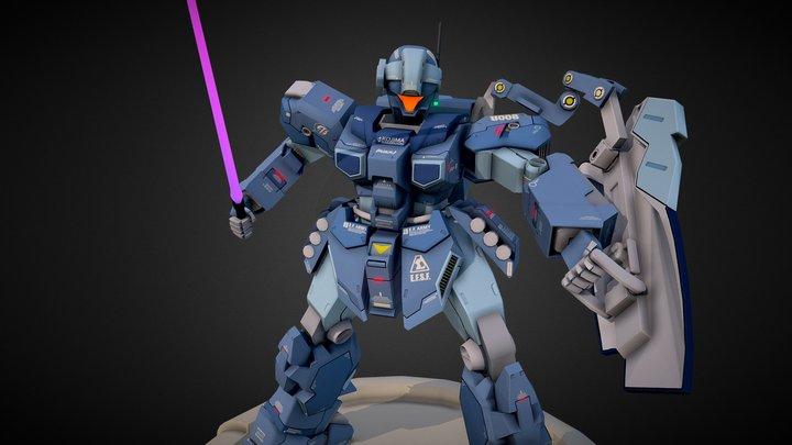 GUNDAM 1/100 RGM-96X 3D Model