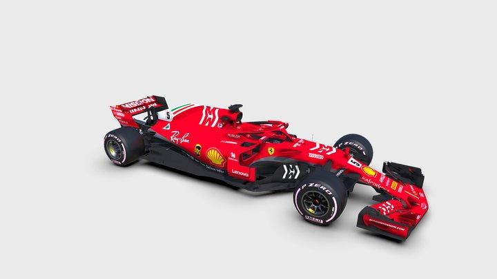 Scuderia Ferrari SF71H v.2 3D Model
