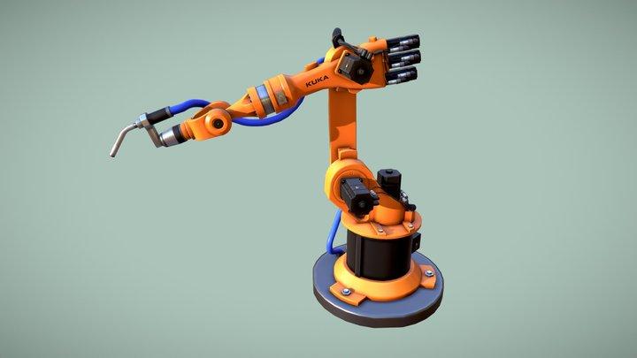 Robotic Arm KUKA 3D Model