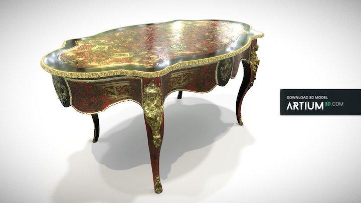 Salon table - Boulle style, France, 19. century 3D Model