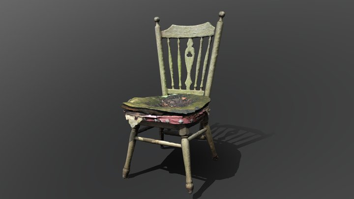 Abandoned chair 3D Model