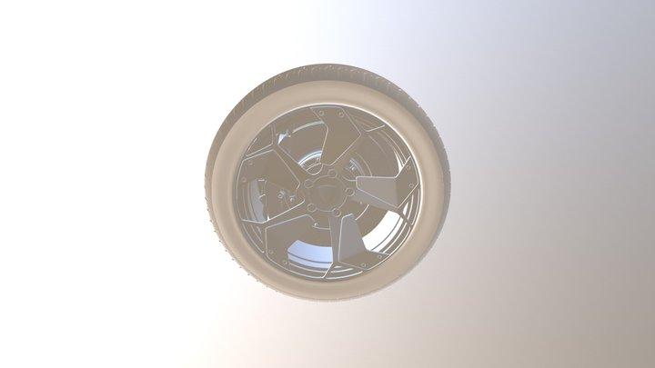 Reventon Wheel Model 3D Model