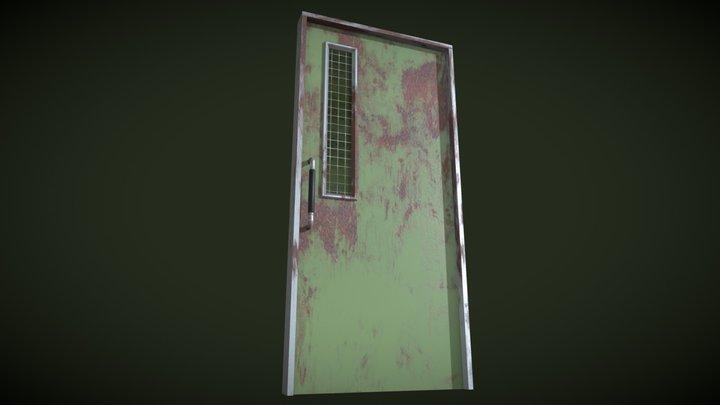 Hospital Door Olddy 3D Model