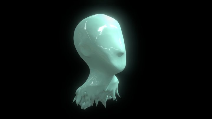 Ice Head Bust 3D Model