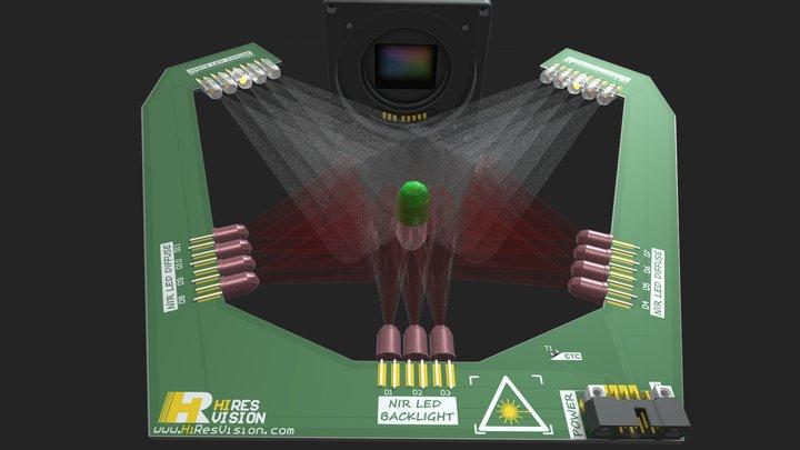 NIR LED BACKLIGHT 3D Model