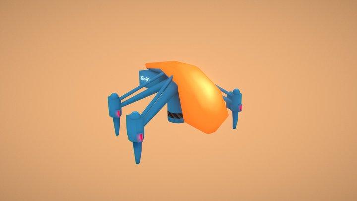 SciFi Drone - Low Poly 03 3D Model
