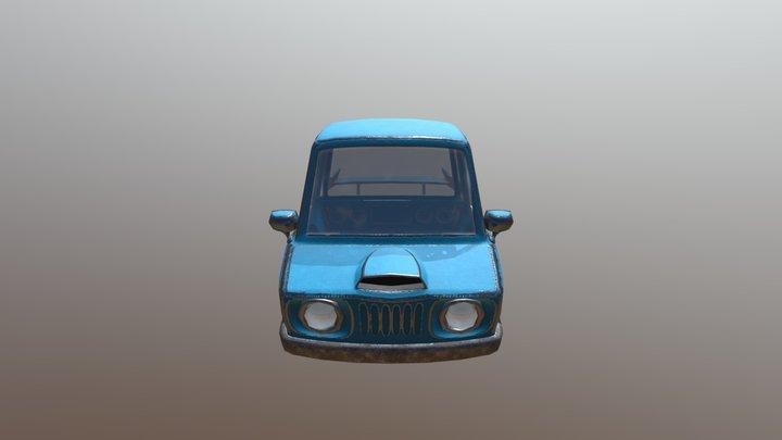 Cartoony Car 3D Model