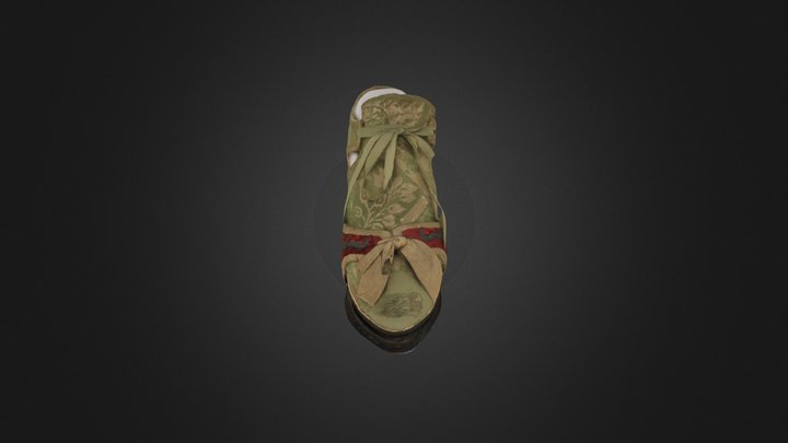 Papillon Shoes (right foot) 3D Model