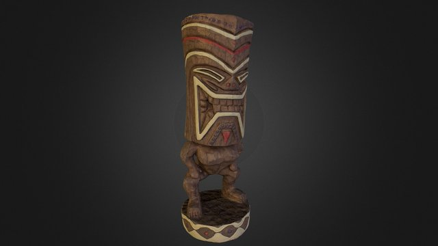 Hawaiian Tiki 3dscan 3D Model