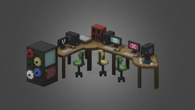 Working space 3D Model
