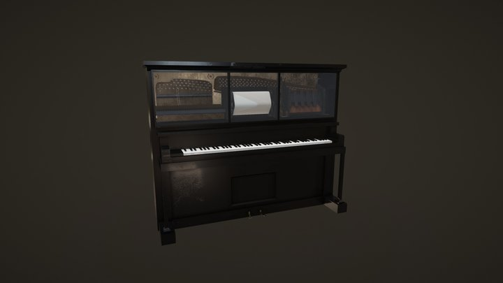 The Player Piano 3D Model