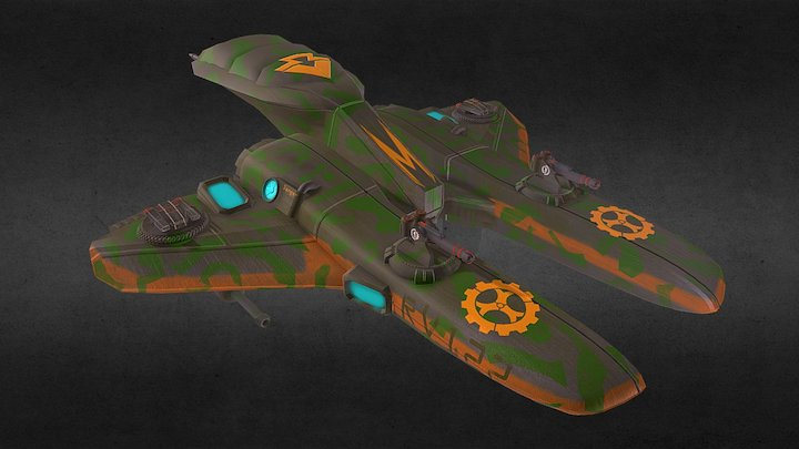 Spase Ship 3D Model