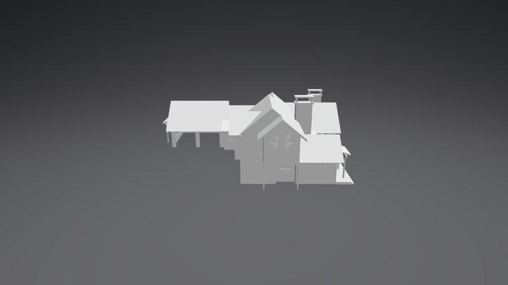 Gallatin River Cottage 3D Model