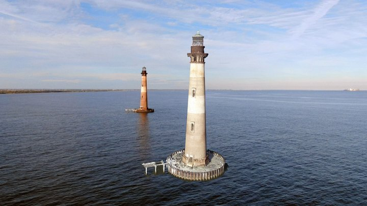 Folly Beach Lighthouse, Charleston, SC 3D Model