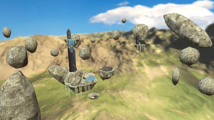 The Forgotten Floating Arena 3D Model