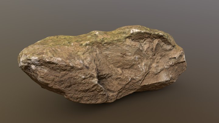 Moss Rock 06 (Free) Rock Pack Vol.1 3D Model