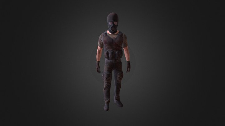 Enemy Character - Game Ready - Low Poly 3D Model