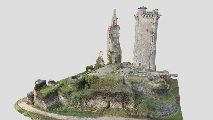 Château de Mehun-sur-Yèvre 3D Model