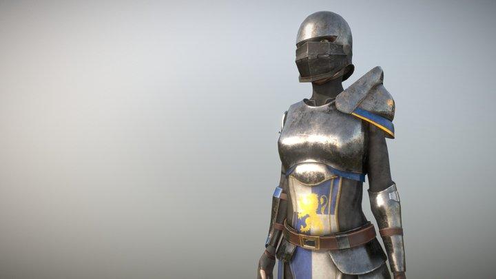 Medieval/Fantasy Female Armor Set 3D Model
