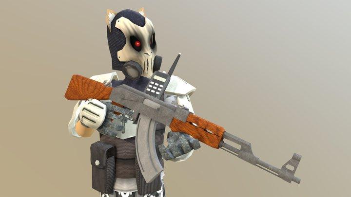 Cat Soldier 3D Model