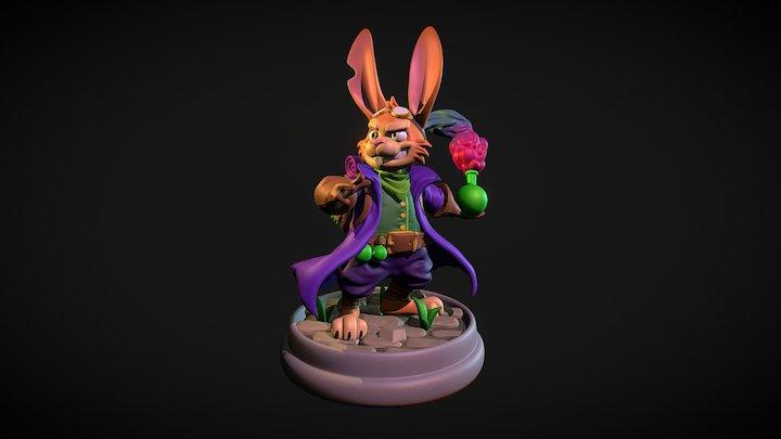 Hopping Mad Alchemist: COLOURED 3D Model