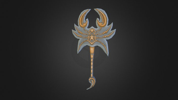 Hand Painted Scorpion Axe  3D Model