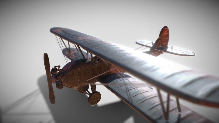 Soviet Aircraft Po2 3D Model