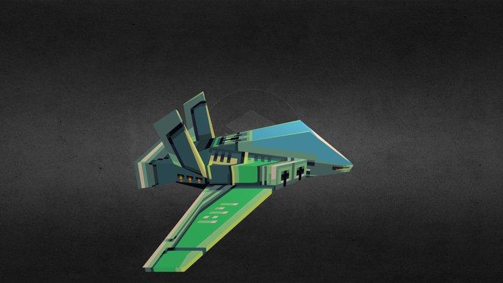 LowPoly_Spaceship 3D Model
