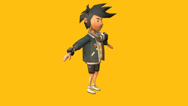 Main Character 3D Model