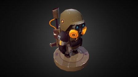 Heavy flamethrower unit 3D Model